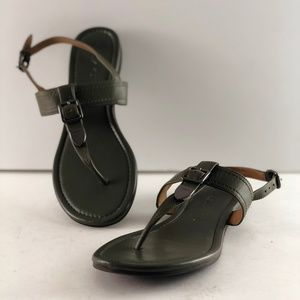 Coach Cassidy Leather T - Strap Sandal